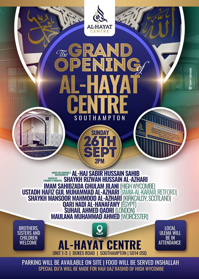 Grand Opening ceremony for Al-Hayat Centre
